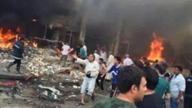 صورة ارتفاع عدد ضحايا التفجير المزدوج الى 33 قتيلاً و82 جريحاً